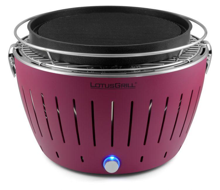 lotusgrill pflaumenlila asia set inkl teppanyakiplatte grillkohle brennpaste und. Black Bedroom Furniture Sets. Home Design Ideas