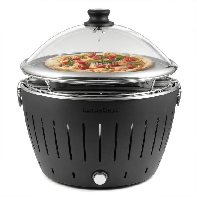 lotusgrill pizza set anthrazitgrau inkl glashaube. Black Bedroom Furniture Sets. Home Design Ideas